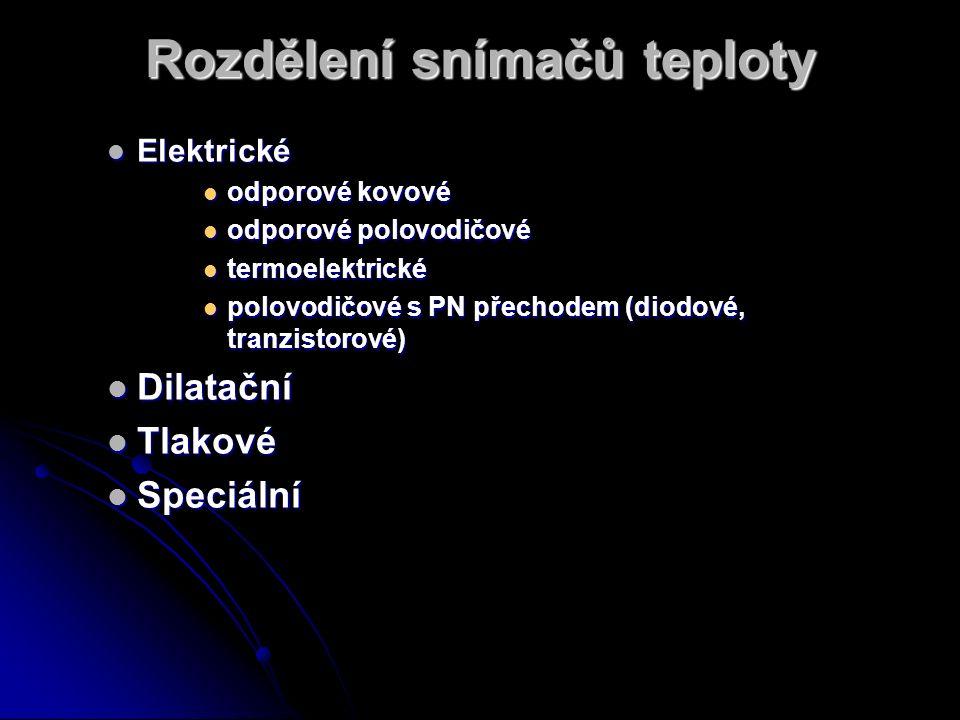 Srovnání elektrických teploměrů