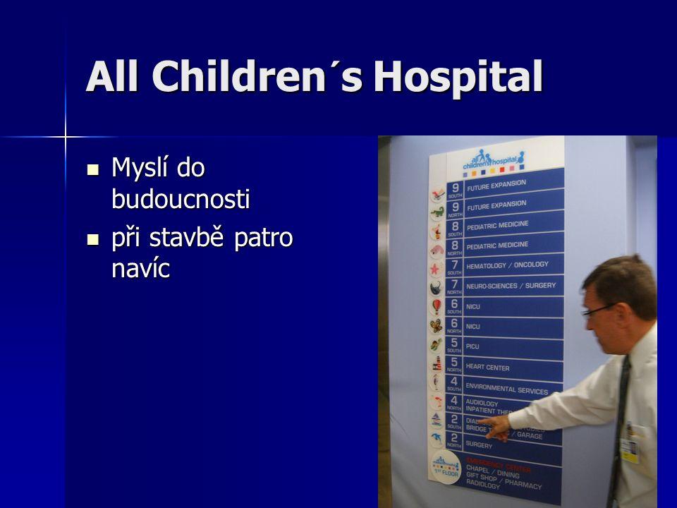 All Children´s Hospital Myslí do budoucnosti Myslí do budoucnosti při stavbě patro navíc při stavbě patro navíc