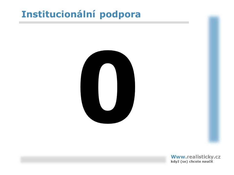 Institucionální podpora 0 Www.realisticky.cz když (se) chcete naučit