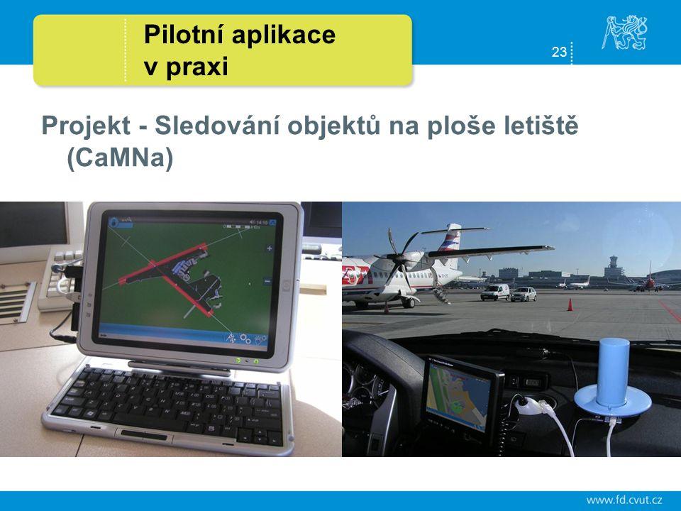 23 Pilotní aplikace v praxi Projekt - Sledování objektů na ploše letiště (CaMNa)