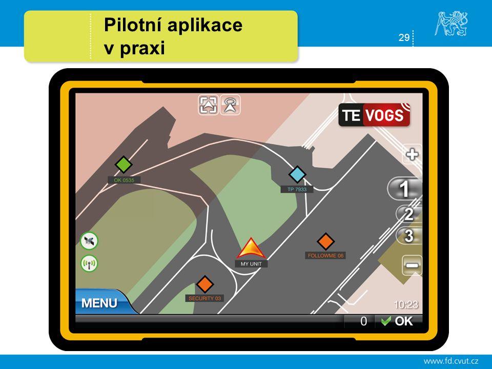 29 Pilotní aplikace v praxi