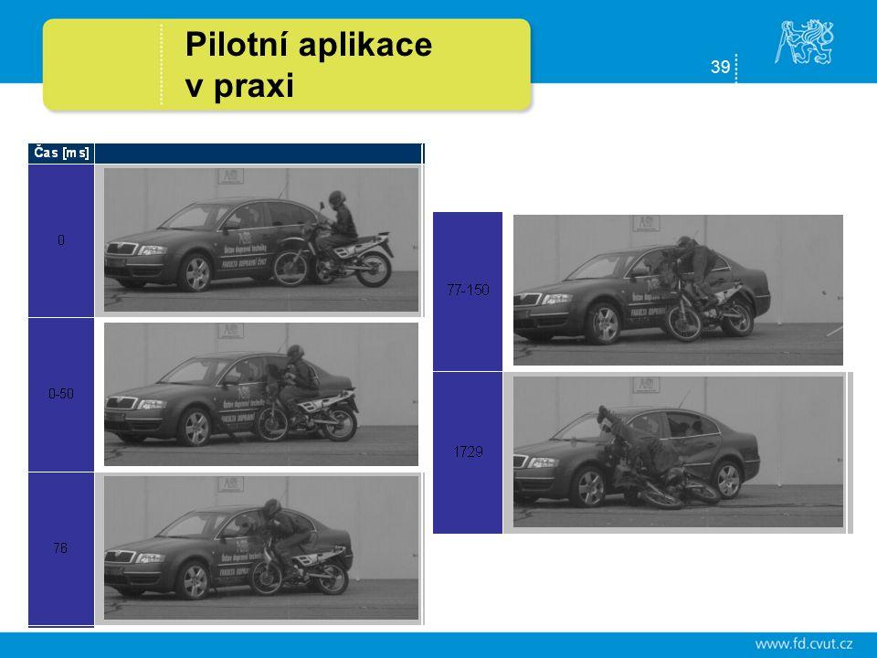 39 Pilotní aplikace v praxi