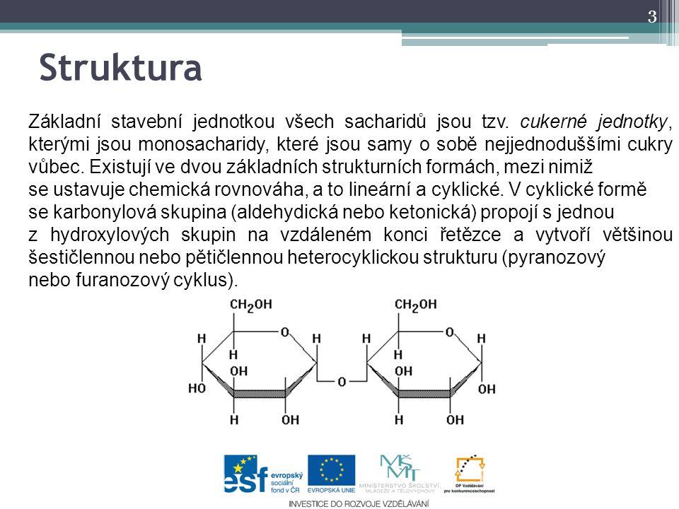 Struktura 3 Základní stavební jednotkou všech sacharidů jsou tzv.