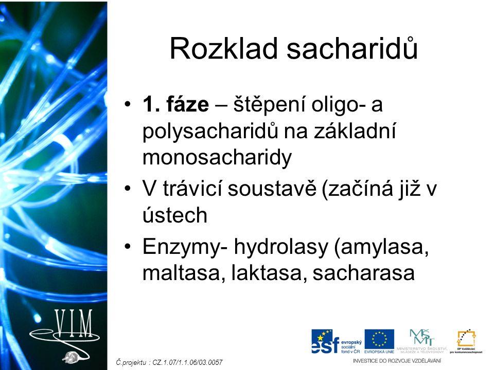 Č.projektu : CZ.1.07/1.1.06/03.0057 Rozklad sacharidů 1.