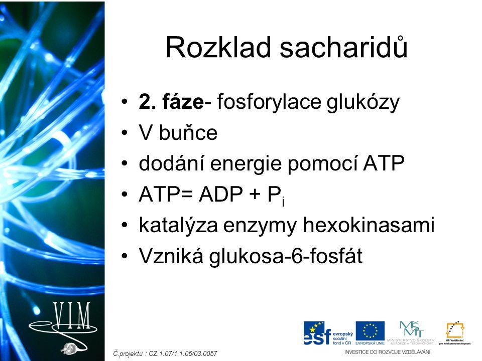 Č.projektu : CZ.1.07/1.1.06/03.0057 Rozklad sacharidů 2.