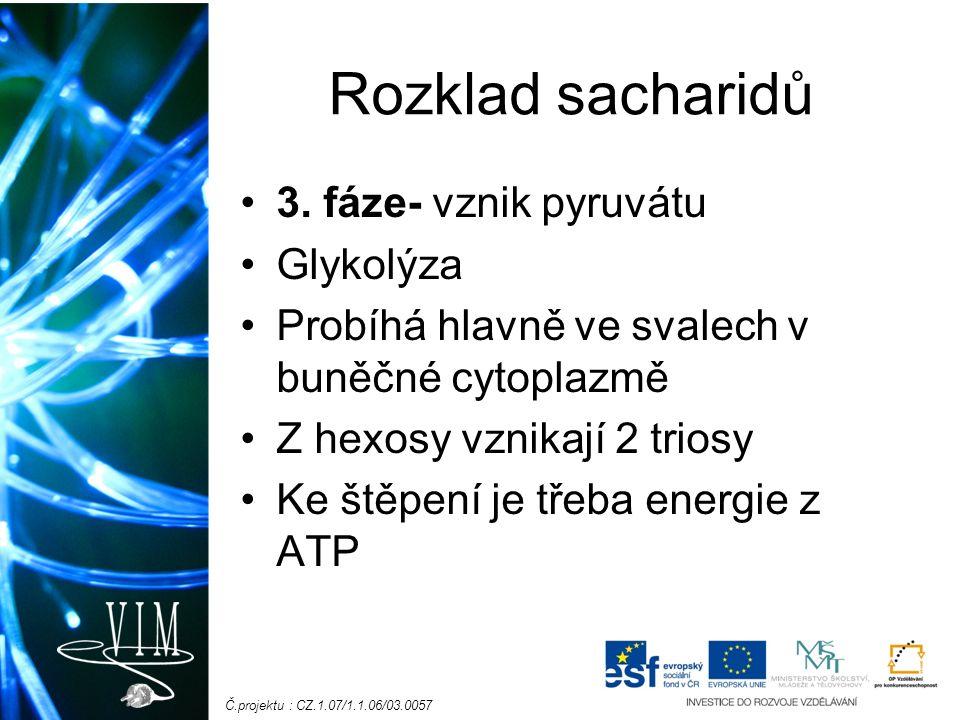 Č.projektu : CZ.1.07/1.1.06/03.0057 Rozklad sacharidů 3.