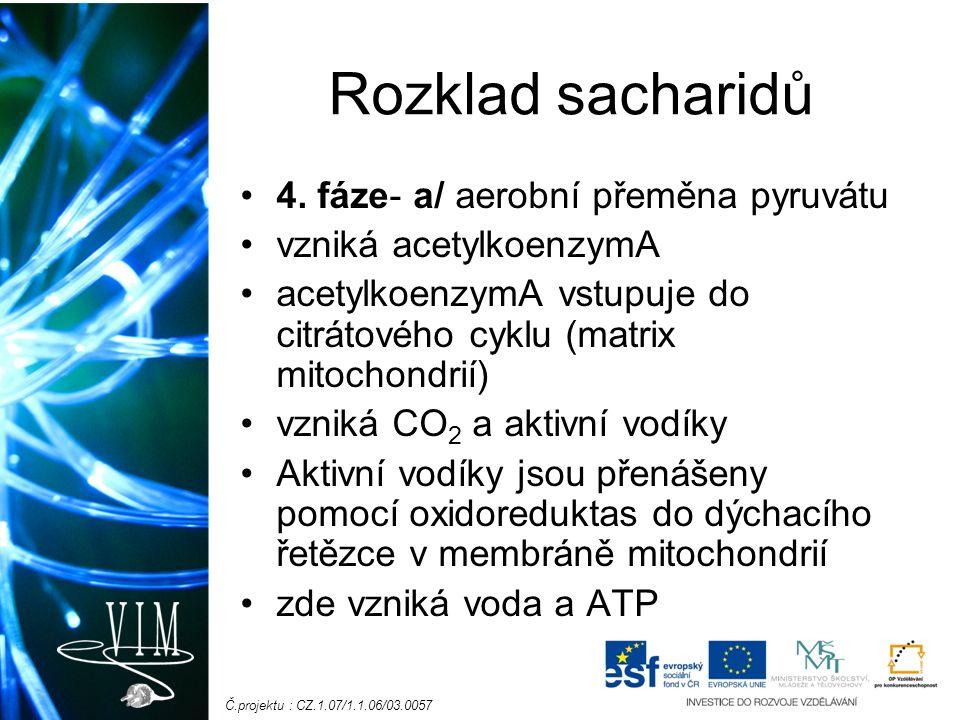 Č.projektu : CZ.1.07/1.1.06/03.0057 Rozklad sacharidů 4.