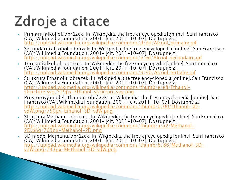  Primarní alkohol: obrázek. In: Wikipedia: the free encyclopedia [online].