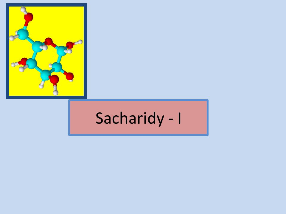 Sacharidy - I