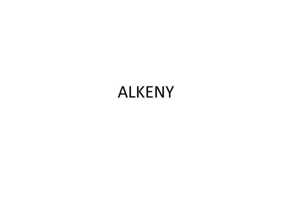 Alkeny jsou nenasycené uhlovodíky s násobnými dvojnými i vazbami mezi atomy uhlíku v molekule.