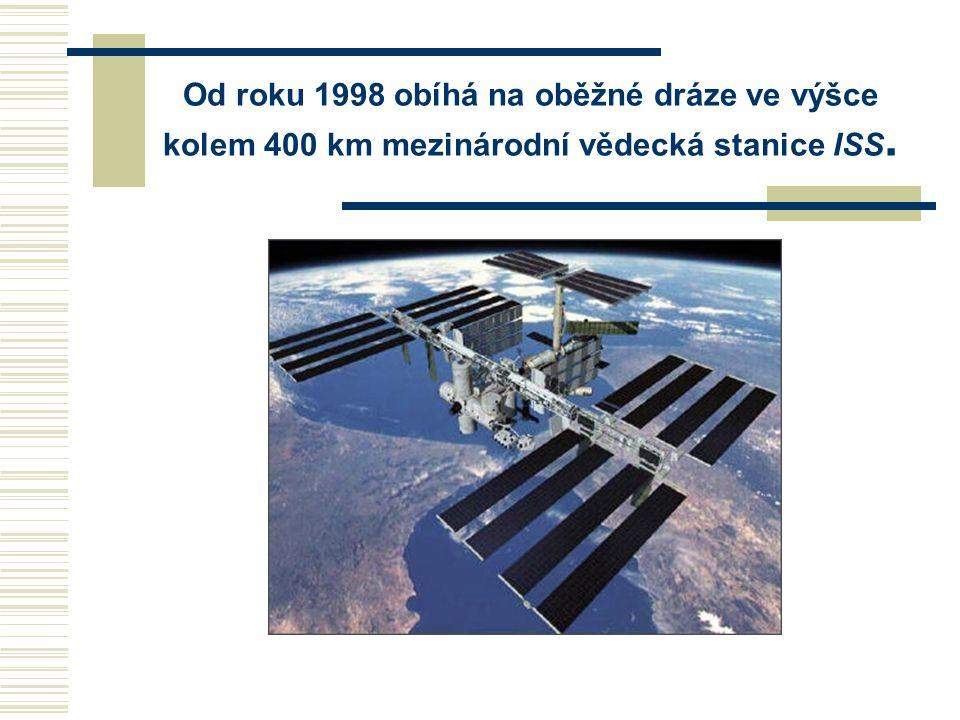Od roku 1998 obíhá na oběžné dráze ve výšce kolem 400 km mezinárodní vědecká stanice ISS.