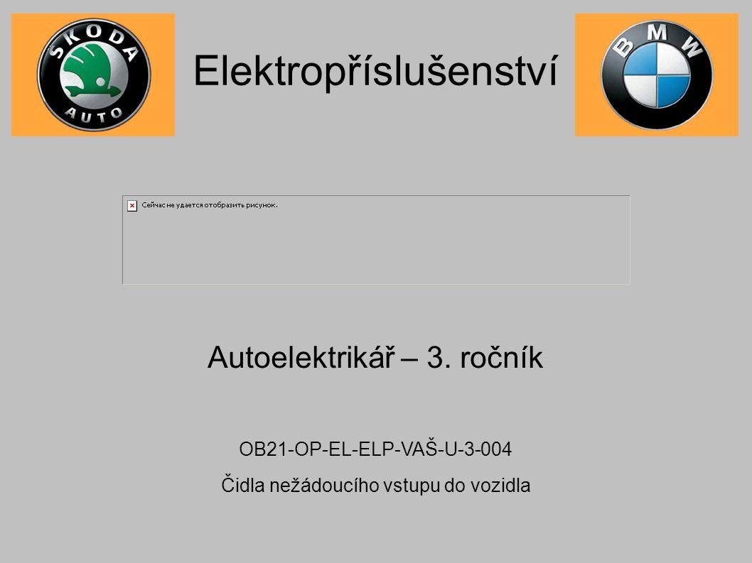 Elektropříslušenství Autoelektrikář – 3.