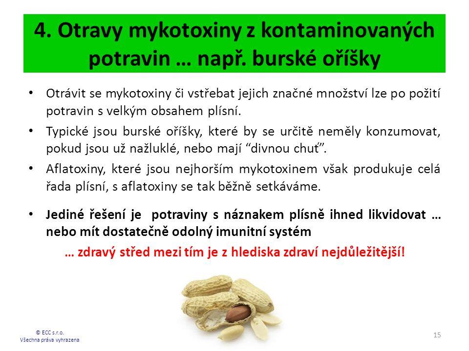 4.Otravy mykotoxiny z kontaminovaných potravin … např.