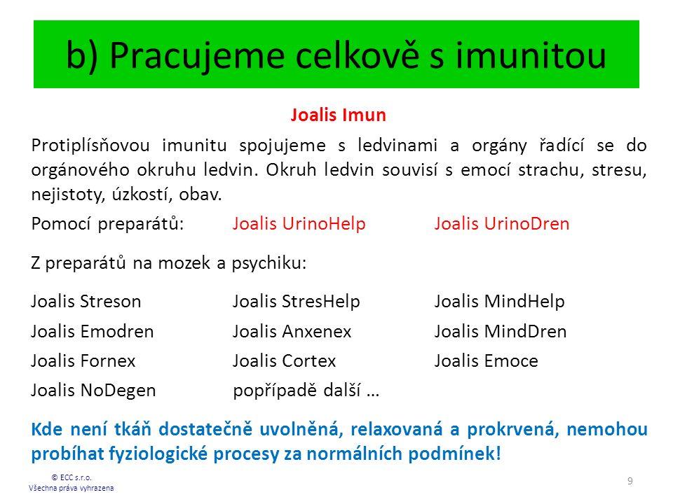 b) Pracujeme celkově s imunitou © ECC s.r.o.