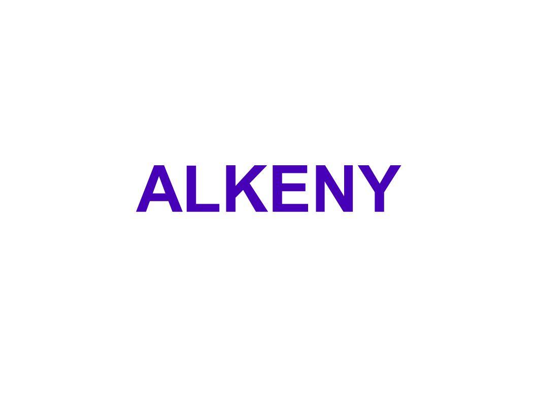 DEFINICE ● Alkeny jsou uhlovodíky, které mají v otevřeném uhlíkatém řetězci mezi atomy uhlíku jednu dvojnou vazbu.
