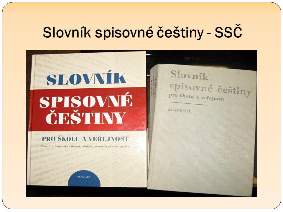 Slovník spisovné češtiny - SSČ