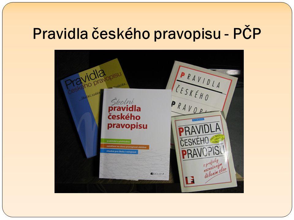 Pravidla českého pravopisu - PČP