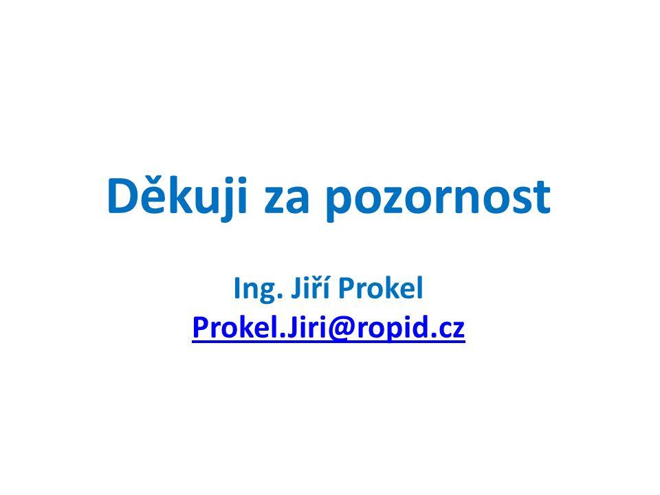Děkuji za pozornost Ing. Jiří Prokel Prokel.Jiri@ropid.cz