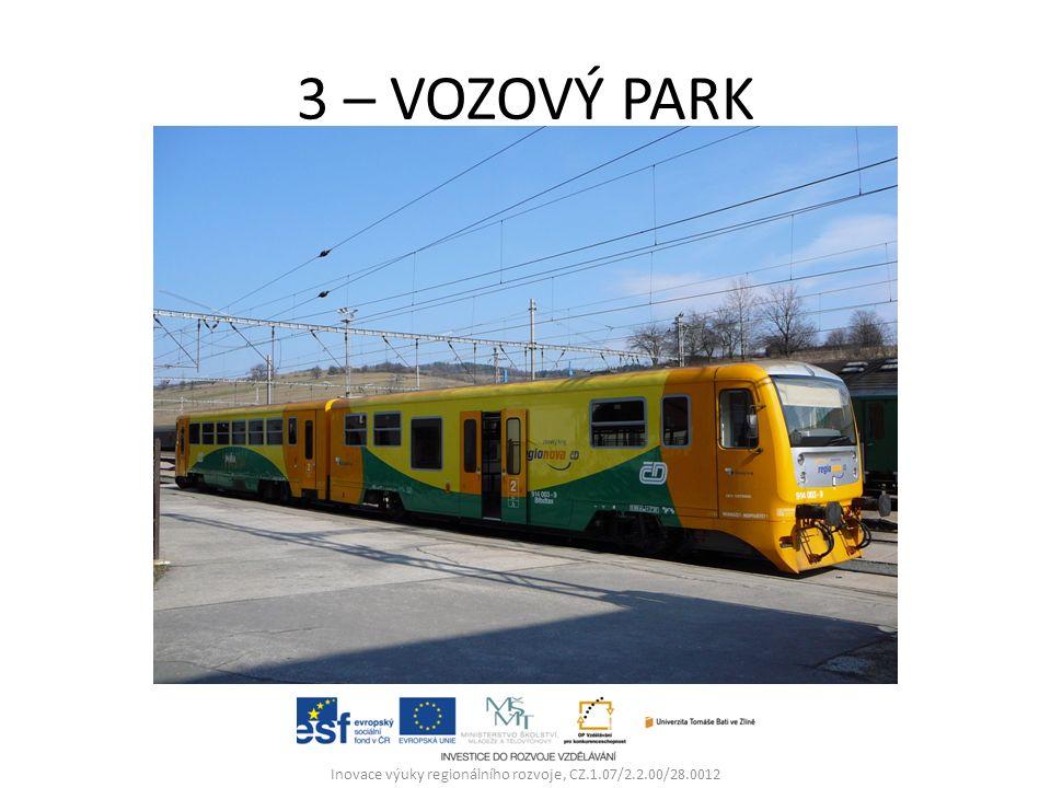 3 – VOZOVÝ PARK Inovace výuky regionálního rozvoje, CZ.1.07/2.2.00/28.0012