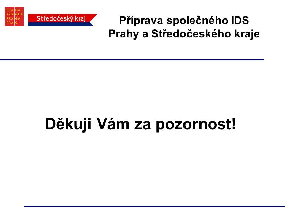 Příprava společného IDS Prahy a Středočeského kraje Děkuji Vám za pozornost!