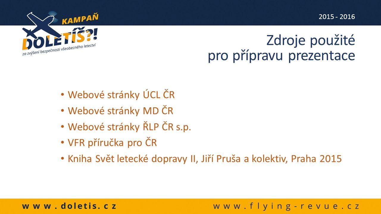 Webové stránky ÚCL ČR Webové stránky MD ČR Webové stránky ŘLP ČR s.p.