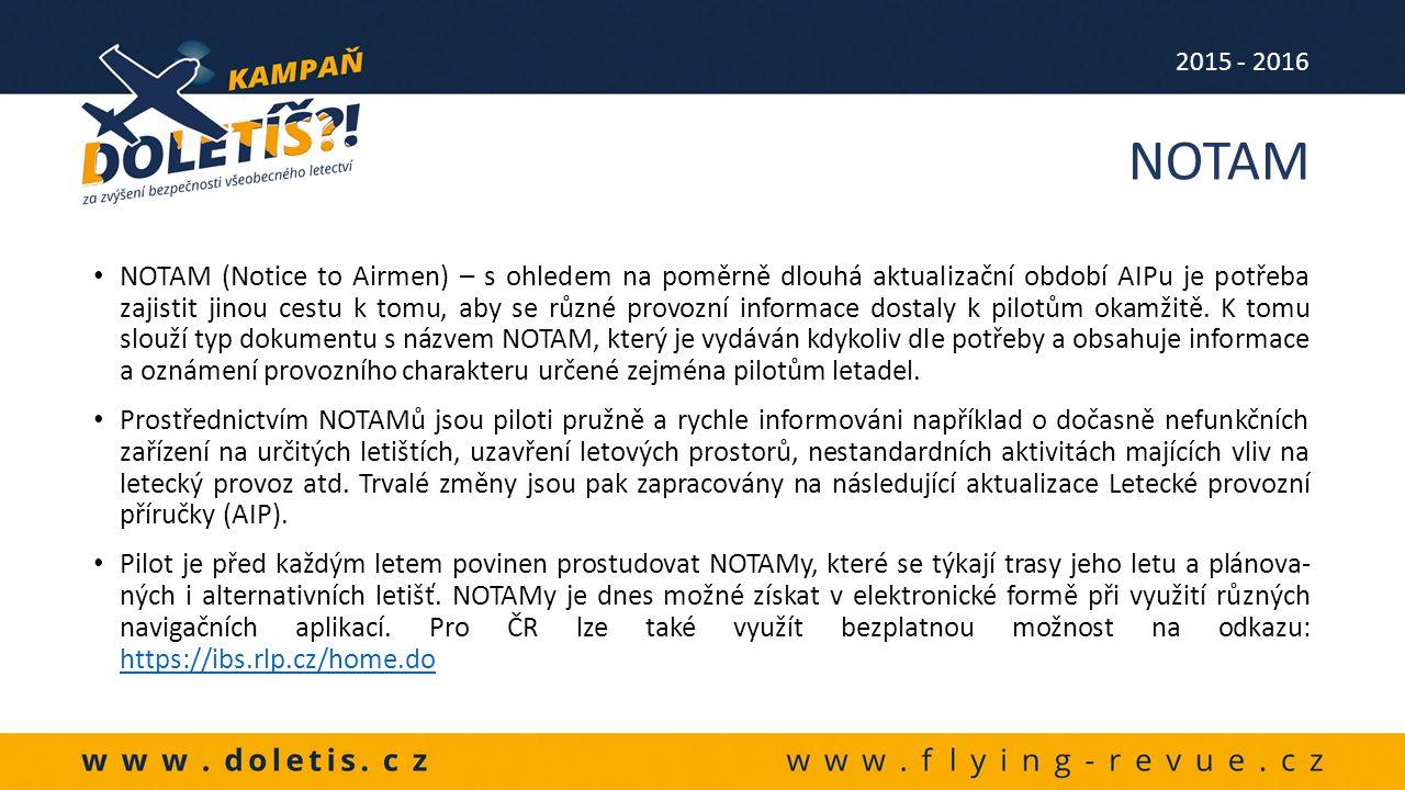 """AIP a letecké předpisy řady """"L obsahují komplexní informace týkající se celé oblasti civilního leteckého provozu."""