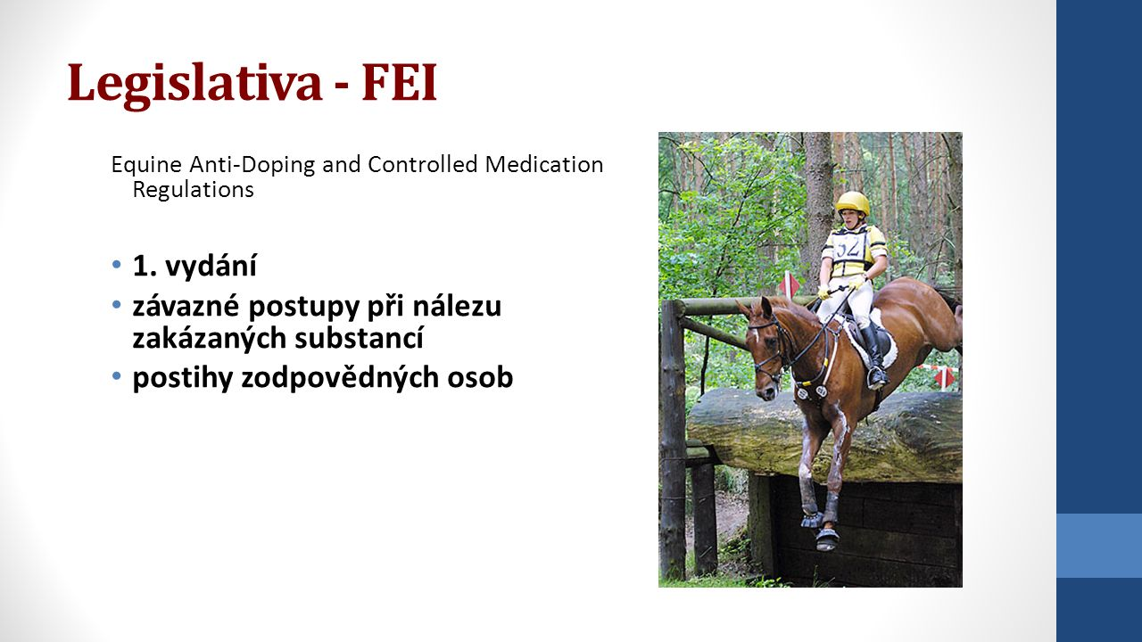 Legislativa - FEI Equine Anti-Doping and Controlled Medication Regulations 1.