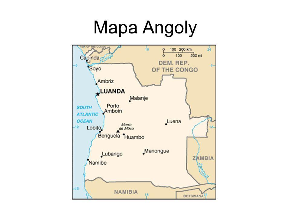 Mapa Angoly