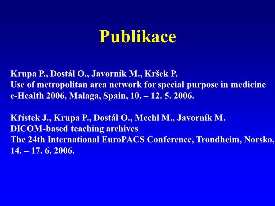 Publikace Krupa P., Dostál O., Javorník M., Kršek P.