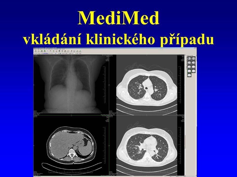 MediMed vkládání klinického případu