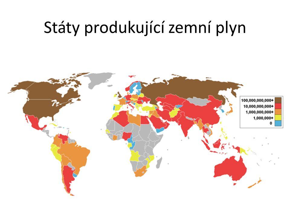 Státy produkující zemní plyn