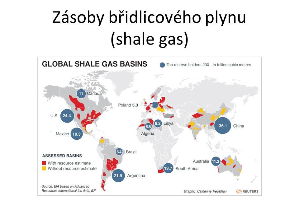 Zásoby břidlicového plynu (shale gas)