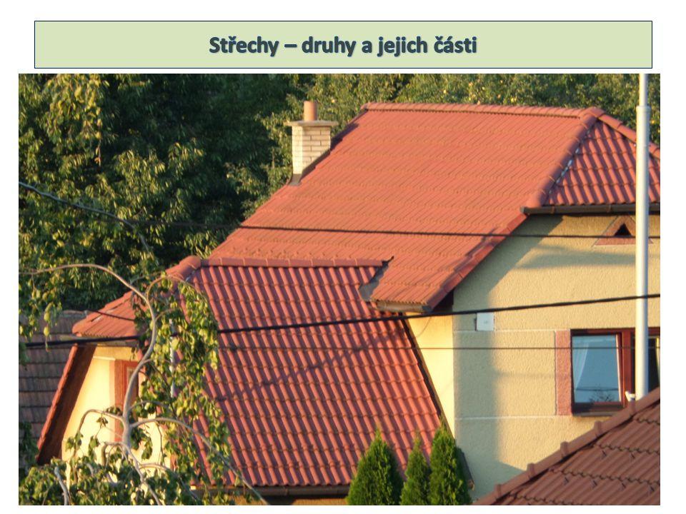 Pultová střecha Stanová střecha Valbová střecha Mansardová střecha Sedlová střecha