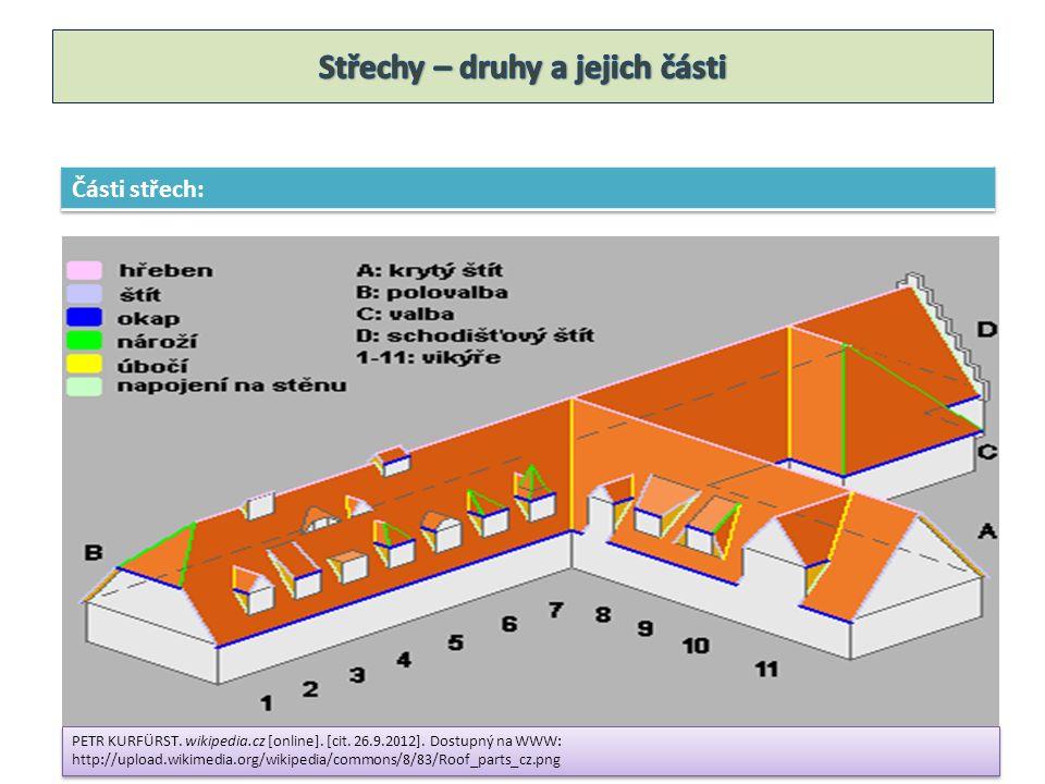 1.Otázka: Z kterých částí se skládá střecha.2.Otázka: Vyjmenuj rozdělení střech podle sklonu.