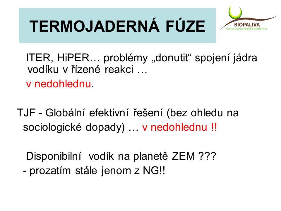 """ITER, HiPER… problémy """"donutit"""" spojení jádra vodíku v řízené reakci … v nedohlednu. TJF - Globální efektivní řešení (bez ohledu na sociologické dopad"""