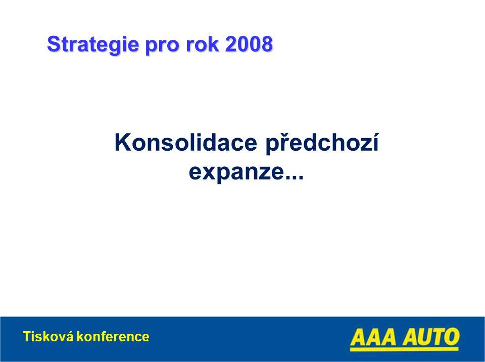 Konsolidace předchozí expanze... Strategie pro rok 2008 Tisková konference