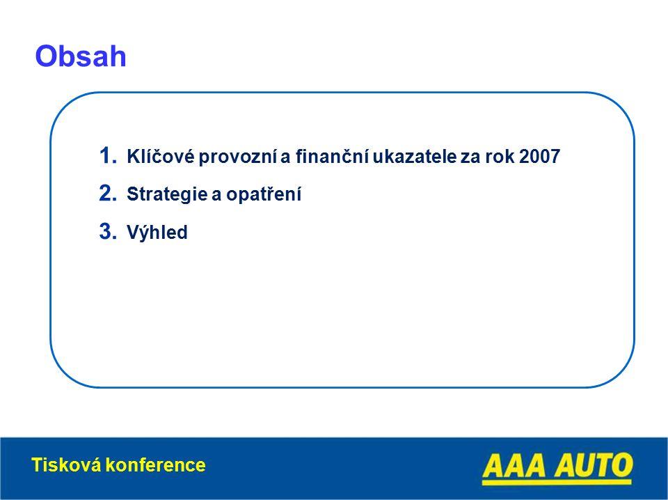 1. Klíčové provozní a finanční ukazatele za rok 2007 2.