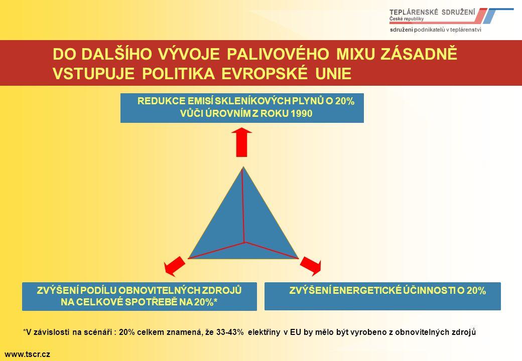 sdružení podnikatelů v teplárenství www.tscr.cz PŘEDPOVĚĎ VÝVOJE ENERGETICKÉHO SEKTORU VE SVĚTĚ 1971 2007 2050 Obyvatelstvo Mio 3 700 6 609 9 150 Hrub