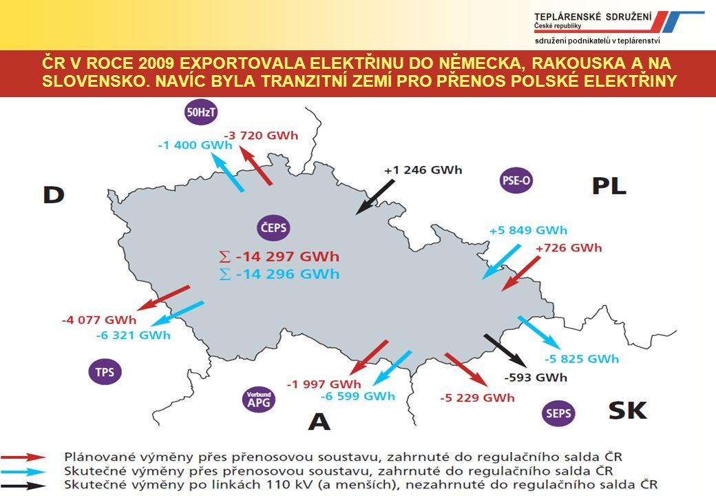 sdružení podnikatelů v teplárenství www.tscr.cz Vzhledem k očekávanému nedostatku zdrojů v okolních zemích musí mít ČR cíl zabezpečit trvale přebytkov