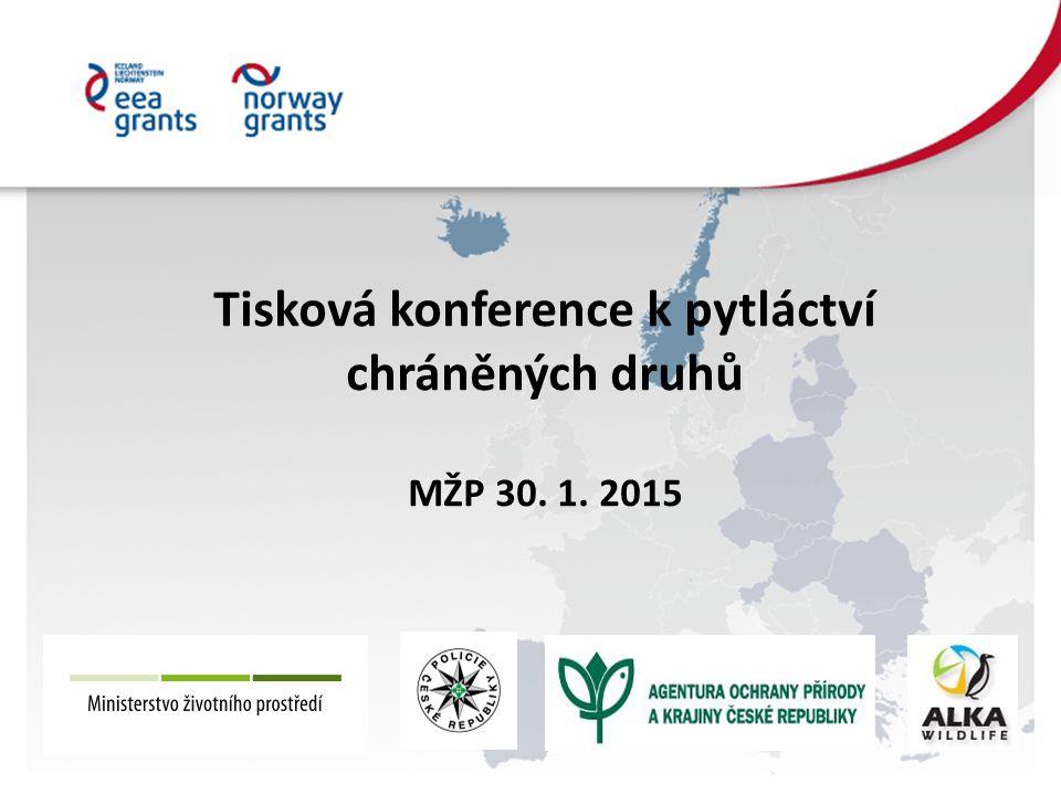 Tisková konference k pytláctví chráněných druhů MŽP 30. 1. 2015