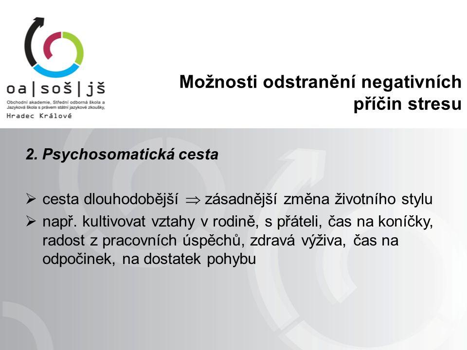 Možnosti odstranění negativních příčin stresu 2.