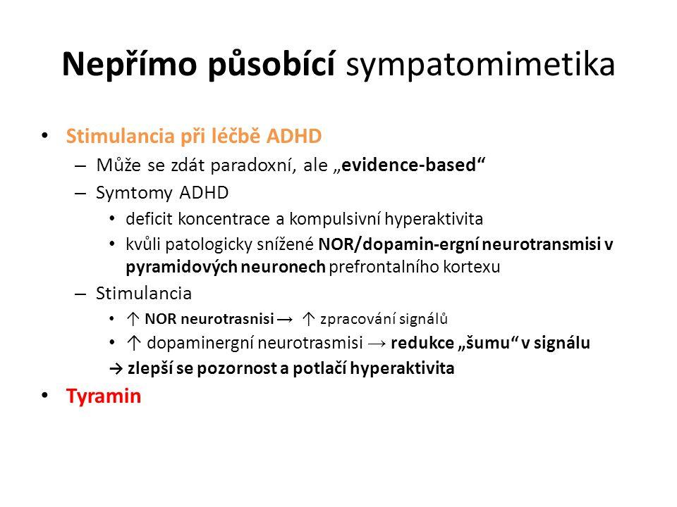 """Nepřímo působící sympatomimetika Stimulancia při léčbě ADHD – Může se zdát paradoxní, ale """"evidence-based"""" – Symtomy ADHD deficit koncentrace a kompul"""