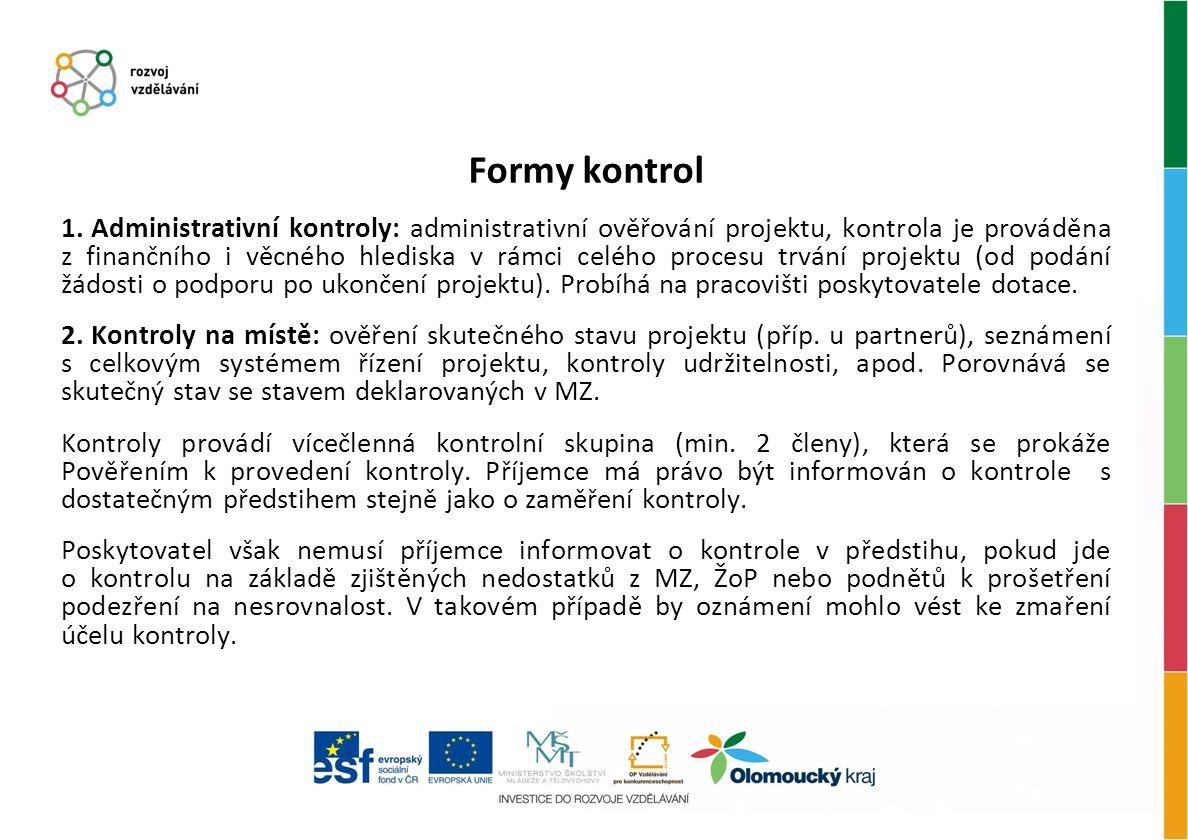 Formy kontrol 1.