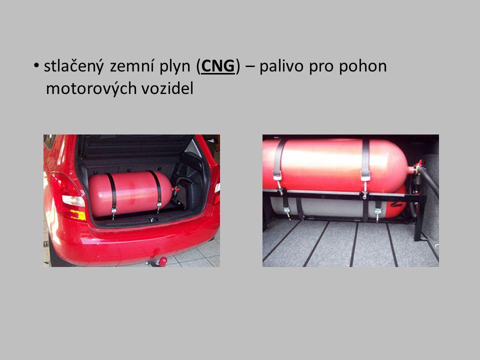 stlačený zemní plyn (CNG) – palivo pro pohon motorových vozidel