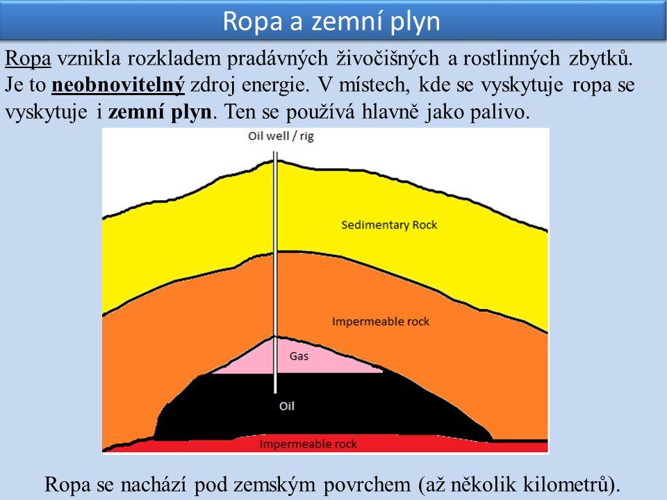 Ropa vznikla rozkladem pradávných živočišných a rostlinných zbytků.