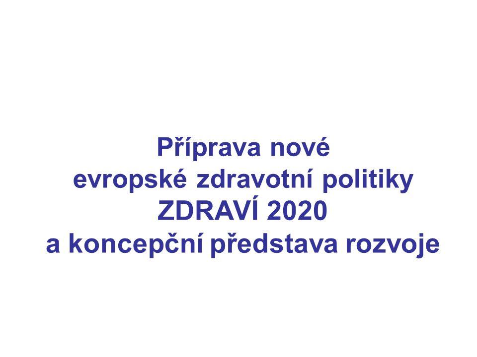 Příprava nové evropské zdravotní politiky ZDRAVÍ 2020 a koncepční představa rozvoje