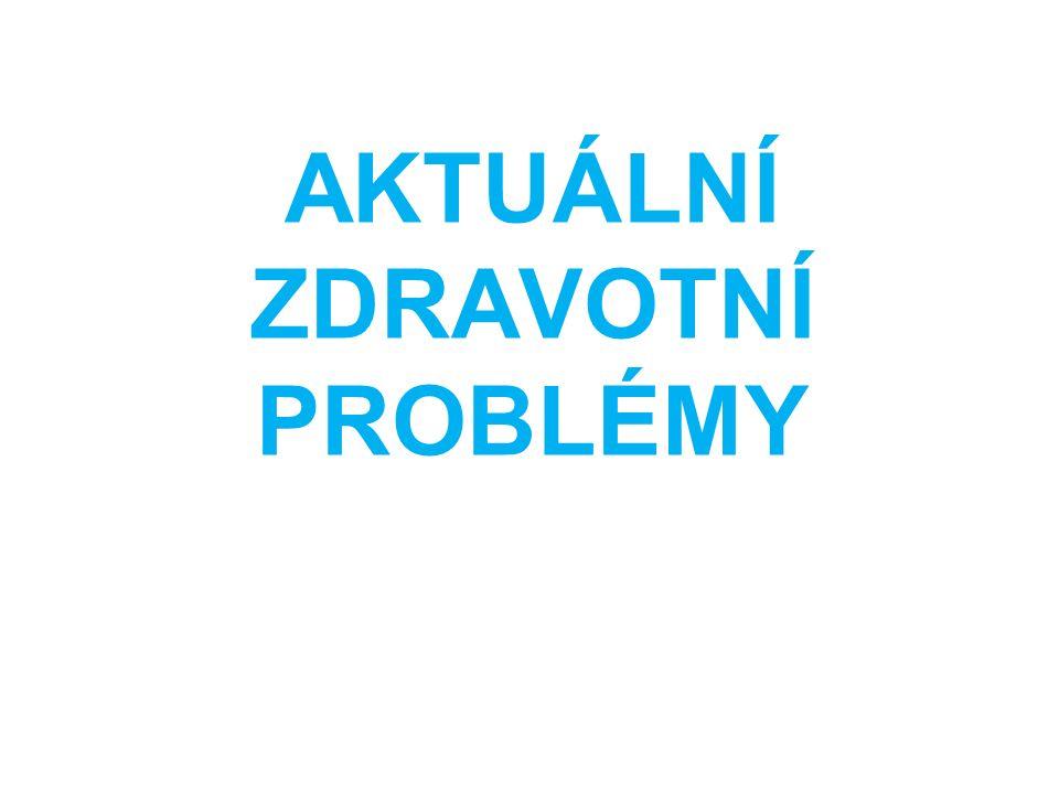 AKTUÁLNÍ ZDRAVOTNÍ PROBLÉMY