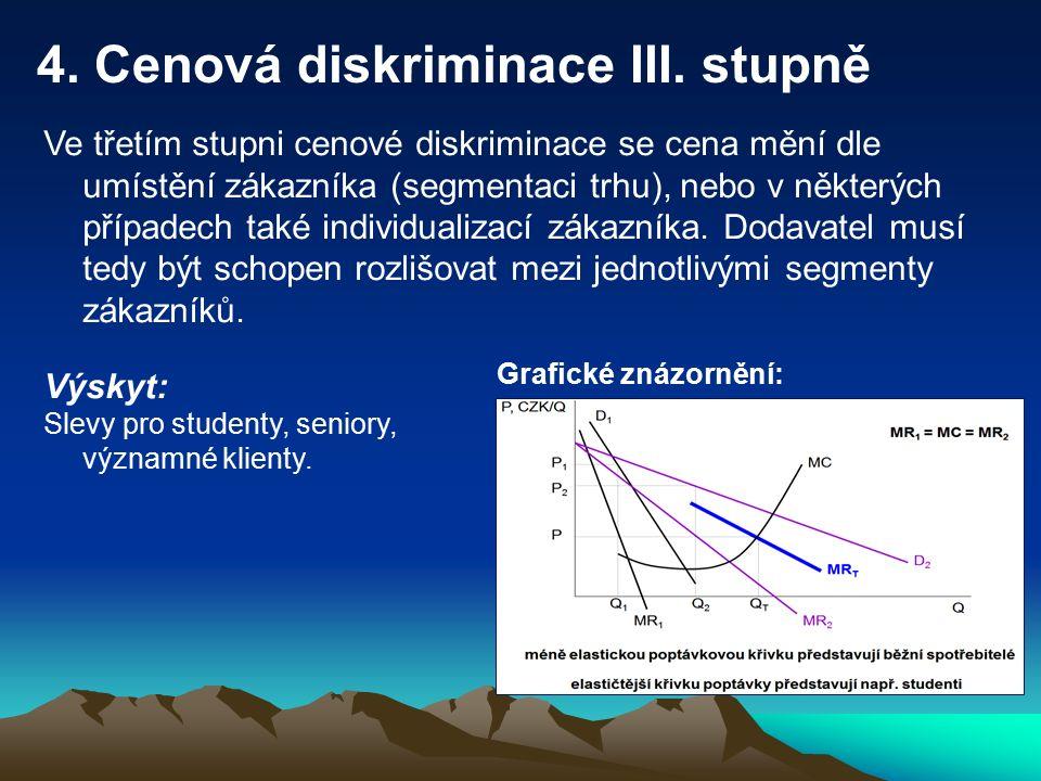 5.Cenová diskriminace IV.