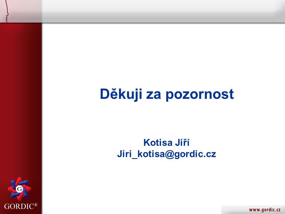 Děkuji za pozornost Kotisa Jiří Jiri_kotisa@gordic.cz