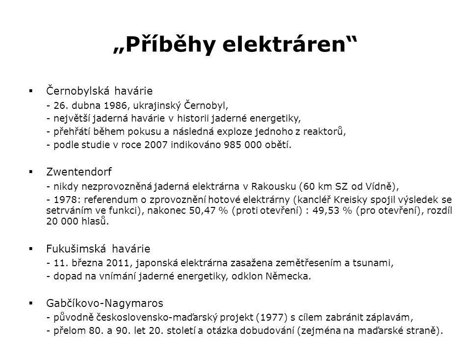 """""""Příběhy elektráren""""  Černobylská havárie - 26. dubna 1986, ukrajinský Černobyl, - největší jaderná havárie v historii jaderné energetiky, - přehřátí"""